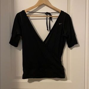 Nike Dance Studio Wrap Top Black